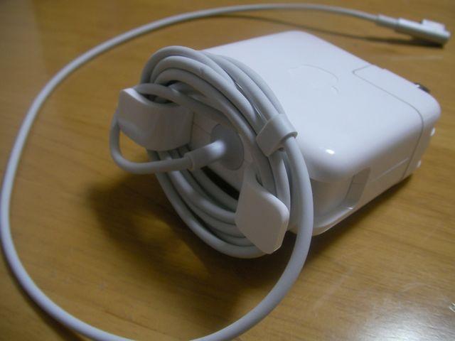 MacのNotebook用電源アダプタのコードの止め方